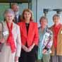 L-R Shirley Hopkins (CQKV), Dr Alistair Melzer (CQUni), Her Excellency Penelope Wensley, Mary McCabe (CQKV), Carmen Drake (CQKV).